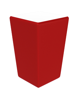 Conic partytafel rood 70x70x110cm zonder LED-verlichting