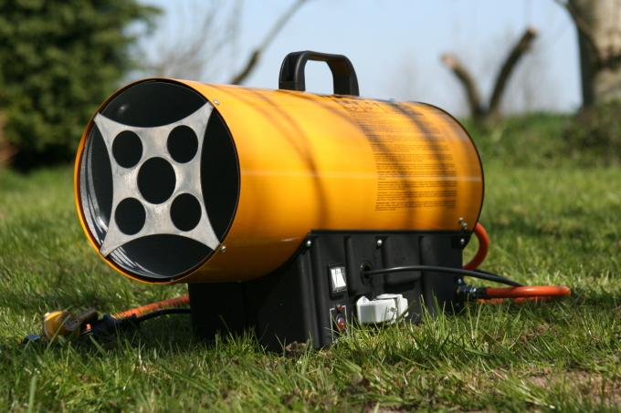 Warmteblazer op gas klein   33KW   (niet geschikt voor in een te